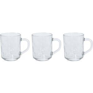 Sada sklenic s ouškem na kávu 240 ml, 3 ks