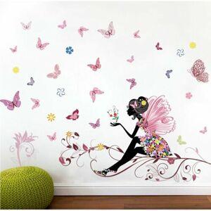Samolepicí dekorace Motýlková víla, 120 x 80 cm