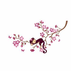 Samolepicí dekorace zamyšlená opice