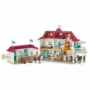 Schleich 42551 Velký dům se stájí, příslušenstvím a kloubovými figurkami