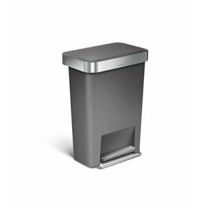 Simplehuman Pedálový odpadkový koš 45 l, šedá