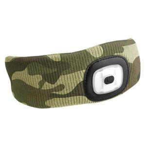 Sixtol Čelenka s čelovkou 45 lm, USB, uni, maskáčová