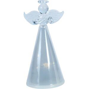 Skleněný anděl s LED osvětlením, 11 cm