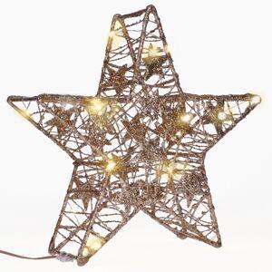 Solight 1v240 Vánoční LED hvězda Glitter 14 LED, teplá bílá, 29 cm