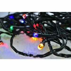 Solight Světelný venkovní řetěz 50 LED s časovačem, 5 m, barevná