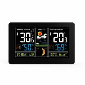 Solight TE81 Meteostanice s extra velkým barevným LCD displejem, černá