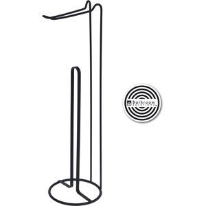 Stojan na toaletní papír Bathroom solutions černá, 15 x 54 cm