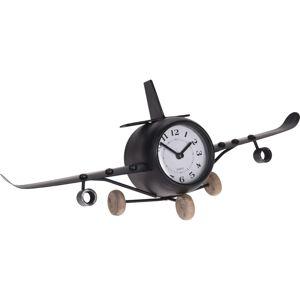 Stolní kovové hodiny Aeroplane, 41,8 cm