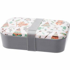 Svačinový box Indian, 19 x 13 x 5,5 cm, bílá