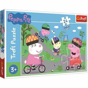 Trefl Maxi puzzle Prasátko Peppa Aktivní den, 24 dílků
