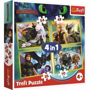 Trefl Puzzle Jak vycvičit draka 4v1 35, 48, 54, 70 dílků