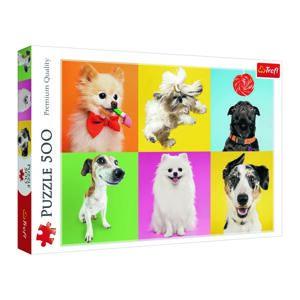Trefl Puzzle Šťastní psi, 500 dílků