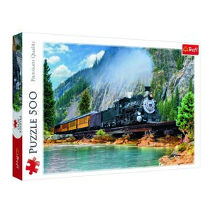 Trefl Puzzle Vlak v horách, 500 dílků