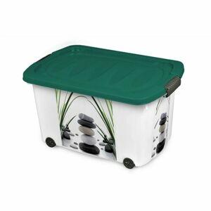 Úložný box s víkem Oblázky, 45 l