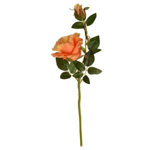 Umělá květina Čajová růže oranžová, 47 cm
