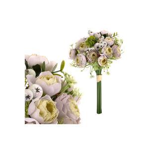 Umělá kytice ranukulusů béžová, 33 cm