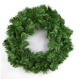 Umělý zelený věnec, 30 cm