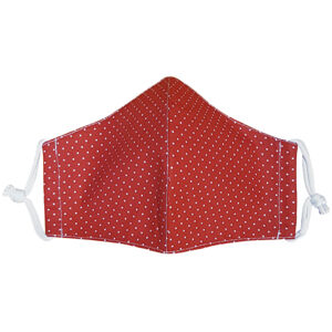 Ústní bavlněná rouška Puntík mini červená medium