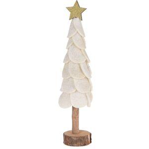Vánoční dekorace Felt tree 27 cm, bílá