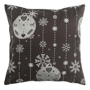 Vánoční povlak na polštářek Vánoční ozdoby šedá, 40 x 40 cm