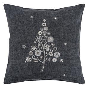 Vánoční povlak na polštářek s výšivkou, 40 x 40 cm