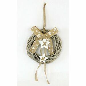 Vánoční proutěný věnec Gloucester, pr. 35 cm