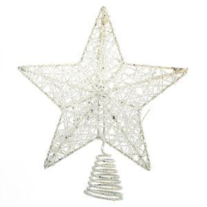 Vánoční špice Glendale bílá, 20 cm