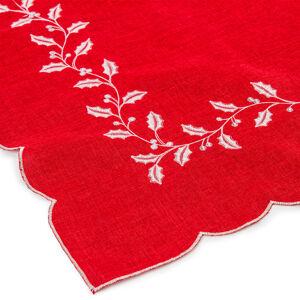 Vánoční ubrus Cesmína červená, 120 x 140 cm