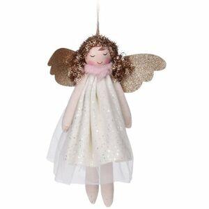 Vánoční závěsná dekorace Anděl Pistoia 17 cm, bílá