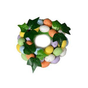 Velikonoční ozdobný věnec s vajíčky, 16 cm