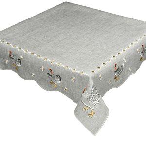 Velikonoční ubrus Slepičky šedá, 35 x 35 cm , 35 x 35 cm