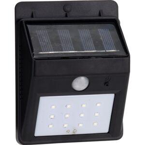 Venkovní nástěnné solární svítidlo se senzorem černá, 12,5 cm