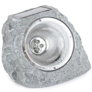 Venkovní solární svítidlo Stone light světle šedá, 4 LED