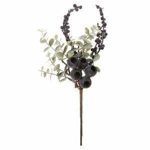 Větvička s fialovými plody, 30 cm