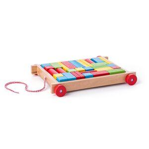 Woody Dřevěný vozíček s kostkami, 34 dílů