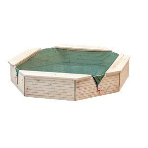 Woody Pískoviště dřevěné, 130 x 130 x 27 cm