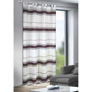 Záclona s poutky Mandy červená, 135 x 245 cm
