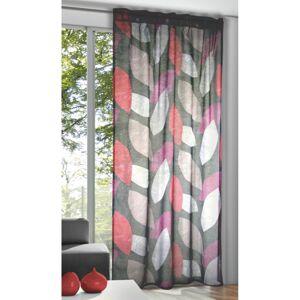 Záclona se skrytými poutky Pietro purpurová, 135 x 245 cm