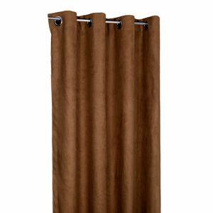 Forbyt Zatemňovací závěs Suedine světle hnědá, 140 x 240 cm, sada 2 ks