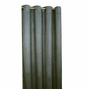 Forbyt Zatemňovací závěs Suedine tmavě šedá, 140 x 240 cm, sada 2 ks