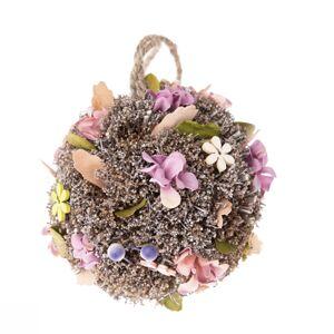 Závěsná koule s umělými květinami Leerdam, pr. 11 cm