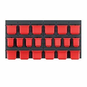Závěsný panel na nářadí s 20 boxy Orderline, 80 x 16,5 x 40 cm