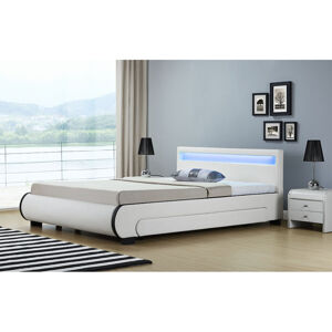 """Čalouněná postel,, Bilbao """"s úložným prostorem 140 x 200 cm - bílá"""