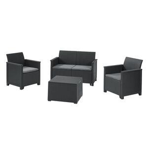 Keter EMMA 2 seaters sofa Set - grafit
