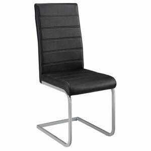 Konzolová židle  Vegas sada 2 kusů, syntetická kůže, v černé barvě