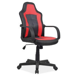 Kancelářská židle CRUZ černá/červená
