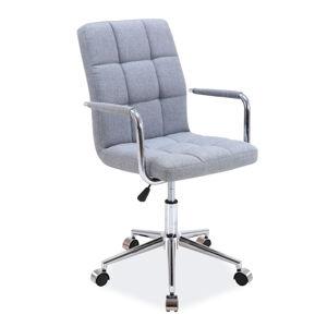 Kancelářská židle Q-022 sivá bluvel 14