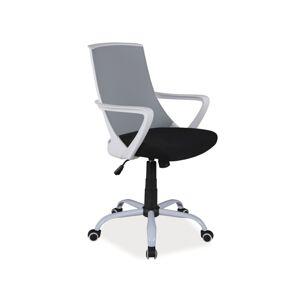Kancelářská židle Q-248 šedá/černá