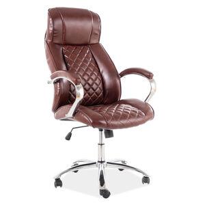 Kancelářská židle Q-557 hnědá eko kůže