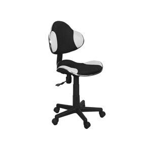 Kancelářská židle Q-G2 čierno/bílá (membrána)